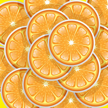 A illustration of oranges slices pattern Vector