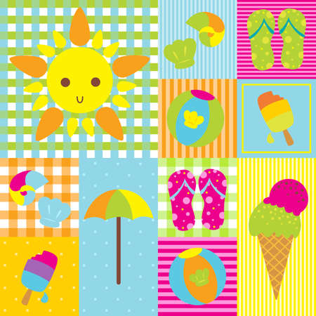 A illustration of summer design pattern Stock Vector - 13659419