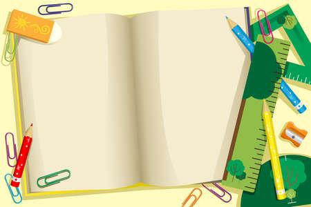 livre �cole: Une illustration de retourner � l'�cole fond