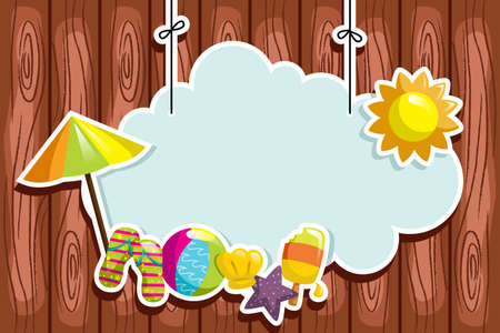 A illustration of summer season background Stock Vector - 14413806