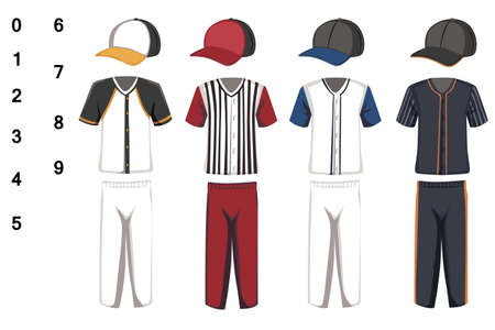 jerseys: A vector illustration of baseball jersey design