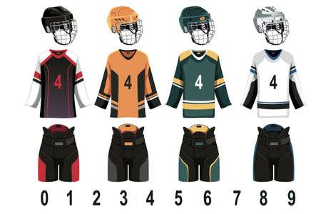 hockey sobre hielo: Una ilustraci�n vectorial de hockey sobre hielo Jersey