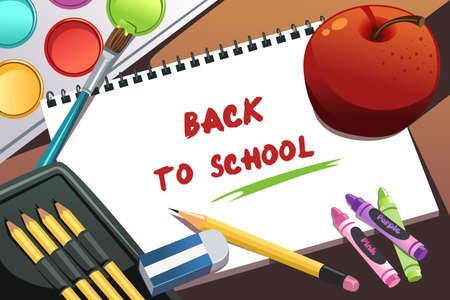 Illustration of back to school background Vector