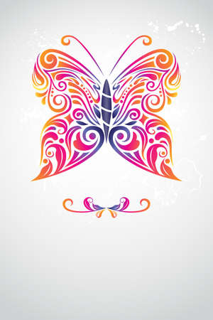 artsy: Illustration of butterfly abstract design