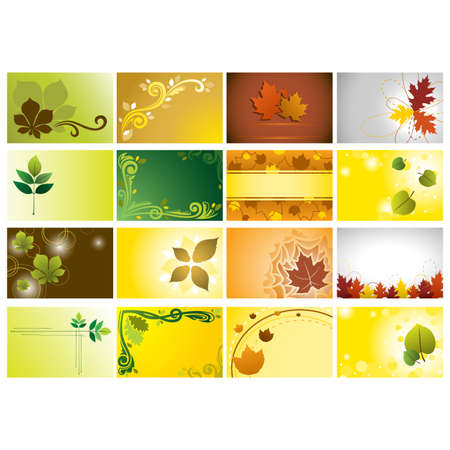 A illustration of a set of autumn background