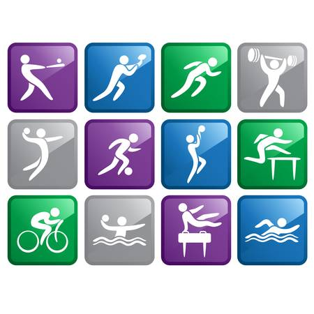 A illustration of a set of sport icons Vector
