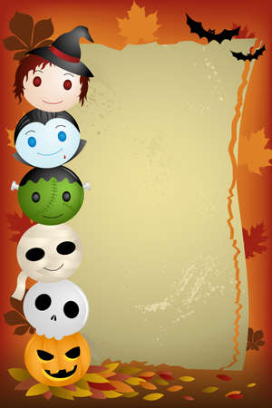 festive background: A illustration of Halloween background with copyspace