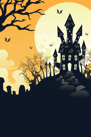 A vector illustration of Halloween holiday background Vector