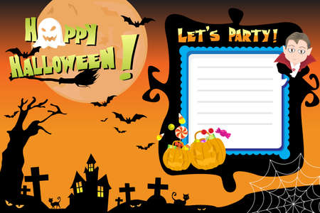 flyer background: A illustration of Halloween invitation flyer