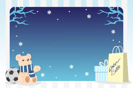 A  illustration of winter shopping background Vector