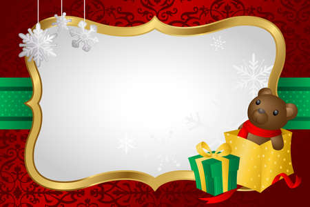 A illustration of Christmas shopping background Vector