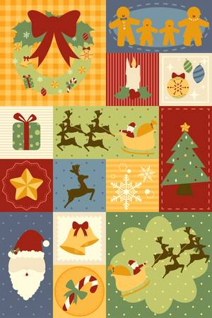 A illustration of Christmas decoration wallpaper Vector