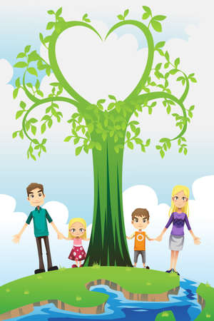 A illustration of a happy family  Stock Vector - 17114310