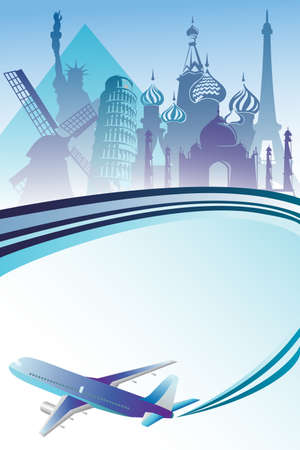 A illustration of air travel background Çizim