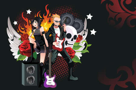 A  illustration of a rock music background Stock Vector - 17337027