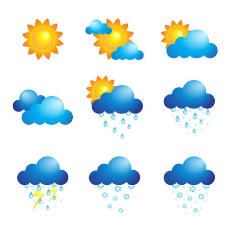 A vector illustration of different weather icons Stock Vector - 17571727
