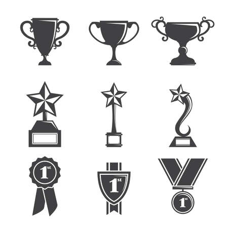 A vector illustration of a set of trophy icons Reklamní fotografie - 17571720