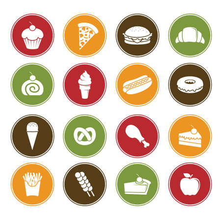 foods: A vector illustration of different food icons