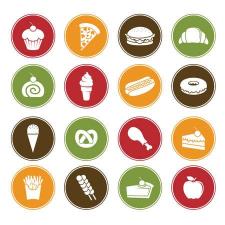 Een vector illustratie van de verschillende voedsel pictogrammen