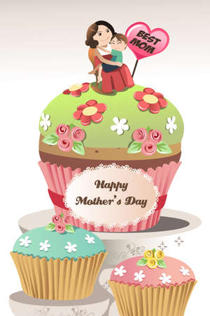 A vector illustration of Mothers day greeting card Stock Vector - 17783948