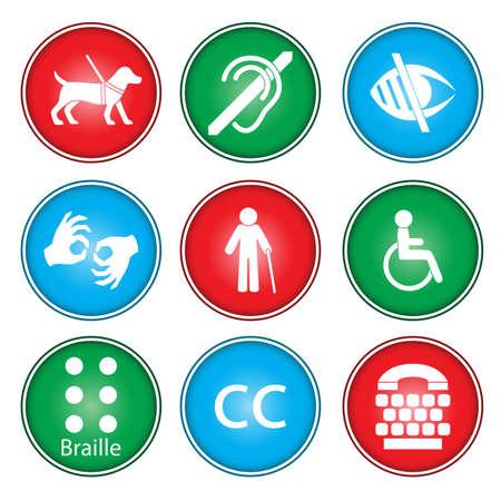 behindert: Eine Illustration der Zug�nglichkeit Icon-Sets