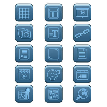 slideshow: A vector illustration of website icon sets