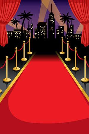 Copyspace と赤いカーペットのベクトル イラスト