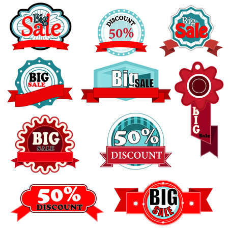 Illustration of vintage sale icon sets Stock Vector - 19247039