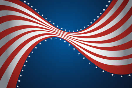 A vector illustration of American flag background design Stock Vector - 20175392