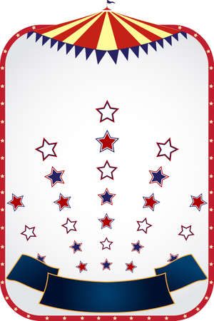 A vector illustration of circus tent background design
