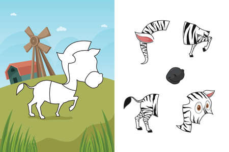 A vector illustration of zebra puzzle Vector