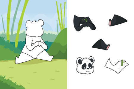 A vector illustration of panda puzzle Vector