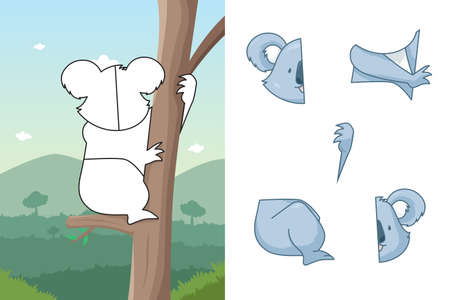 A vector illustration of koala puzzle Vector