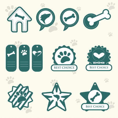 A  illustration of dog label designs