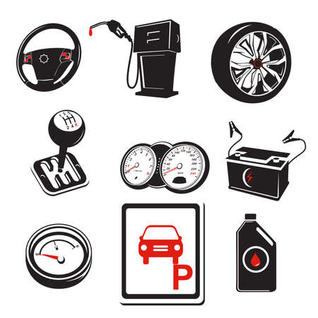 oil change: A vector illustration of auto icons Illustration