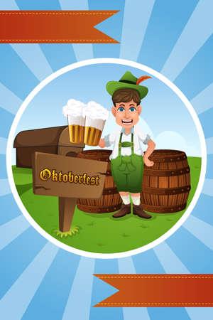 german tradition: A vector illustration of Oktoberfest banner design Illustration