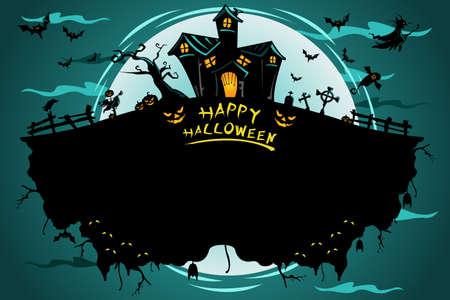 A illustration of Halloween poster design Stock Vector - 22109328