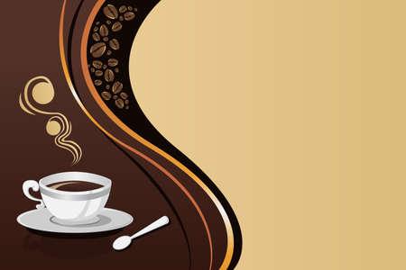 コーヒーのマグカップの背景イラスト  イラスト・ベクター素材