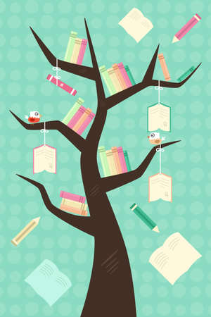 A vector illustration of a learning tree education concept Stock fotó - 22779757