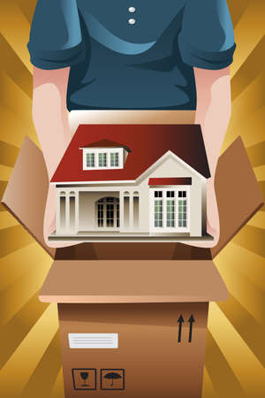 company: A vector illustration of Advertising for moving company