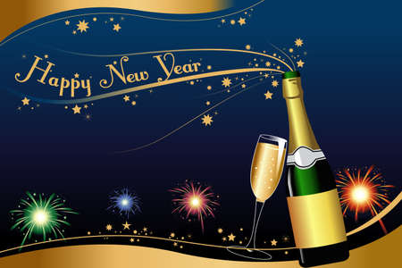 A vector illustration of New Year background with copyspace Stock Vector - 23072337