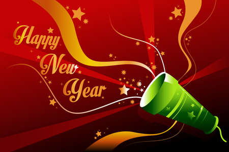 A vector illustration of New Year background with copyspace Stock Vector - 23193417