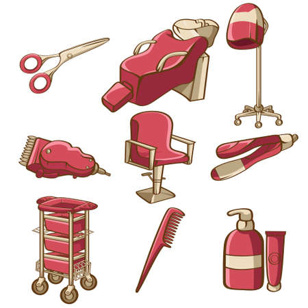 A vector illustration of barbershop icon sets Vector