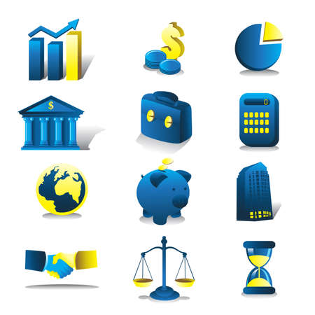 A vector illustration of finance icon sets