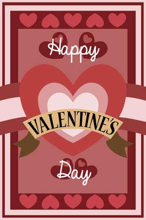 A vector illustration of retro Valentine card design Stock Vector - 24192866