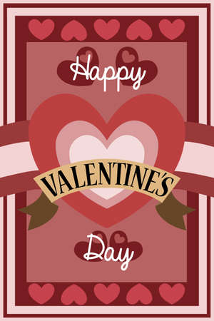 A vector illustration of retro Valentine card design Stock Vector - 24192866