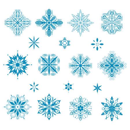 A vector illustration of snow icon designs