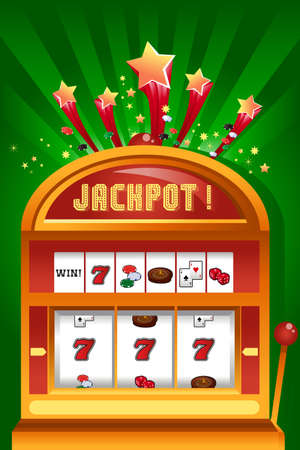 slot machine: A vector illustration of casino gambling design Illustration