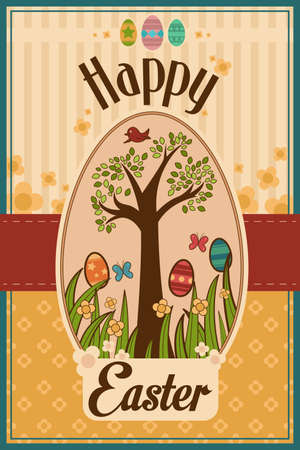 A vector illustration of Easter design card