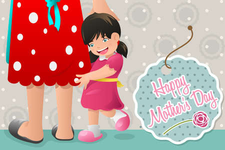 A vector illustration of mothers day card design Vector